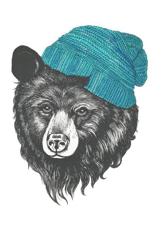 Bear Blue acrylglas print