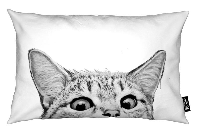 Art pour enfants, Noir & blanc, Chats, Cat coussin