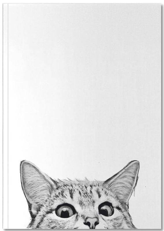 Cats, Black & White, Nursery & Art for Kids, Cat Notebook