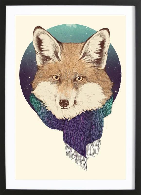 Winter Fox ingelijste print