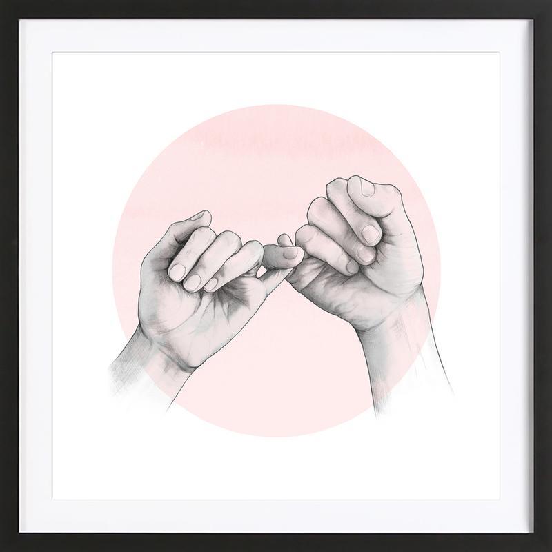 Pinky Swear -Bild mit Holzrahmen