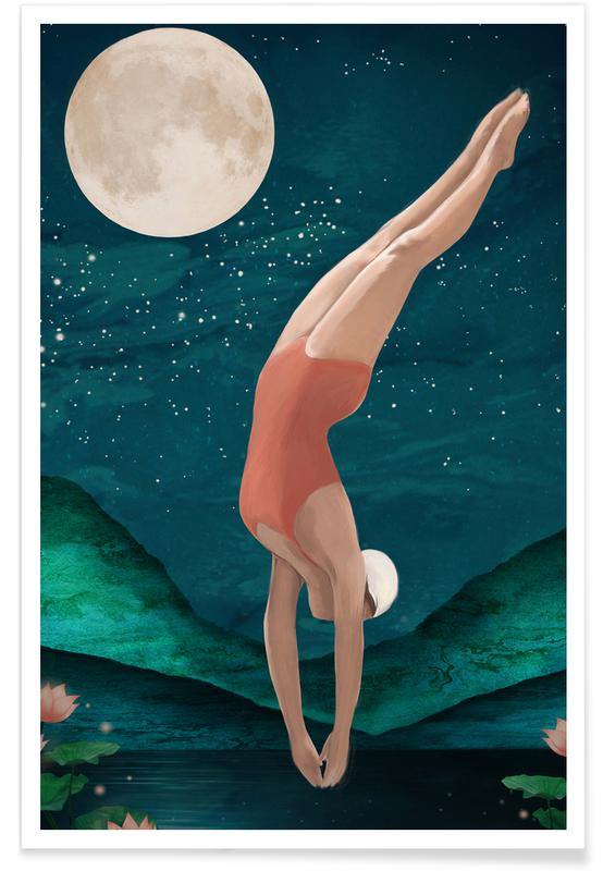 Moon, Dive Poster