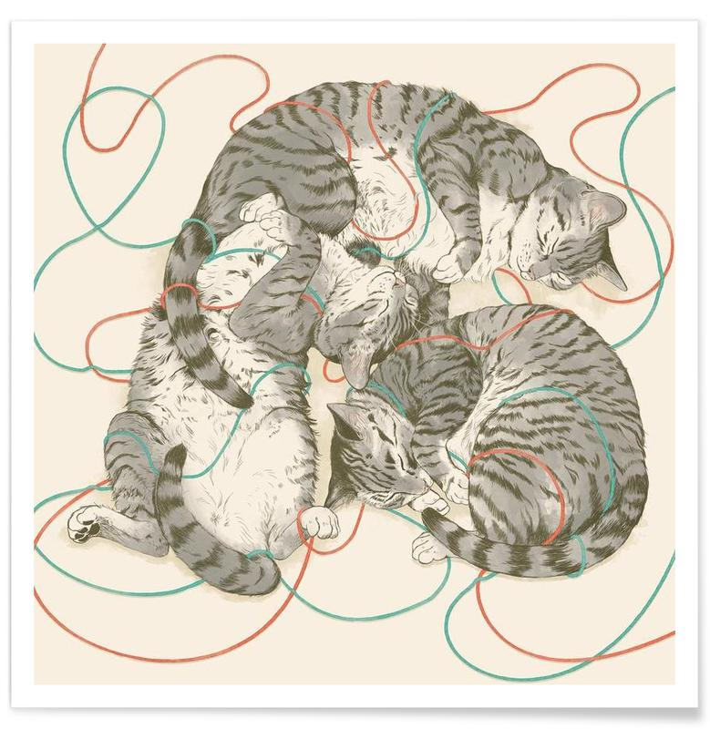 Chats, Sleeping Cats affiche