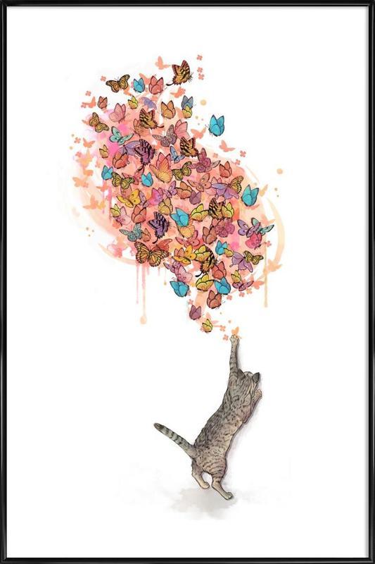 Catching Butterflies Framed Poster