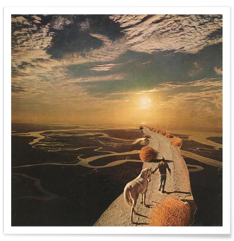 Abstracte landschappen, Eenhoorns, Unicorns Are Real poster