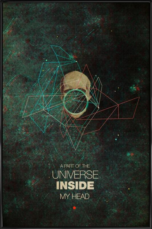 A Part Of The Universe Inside My Head Framed Poster