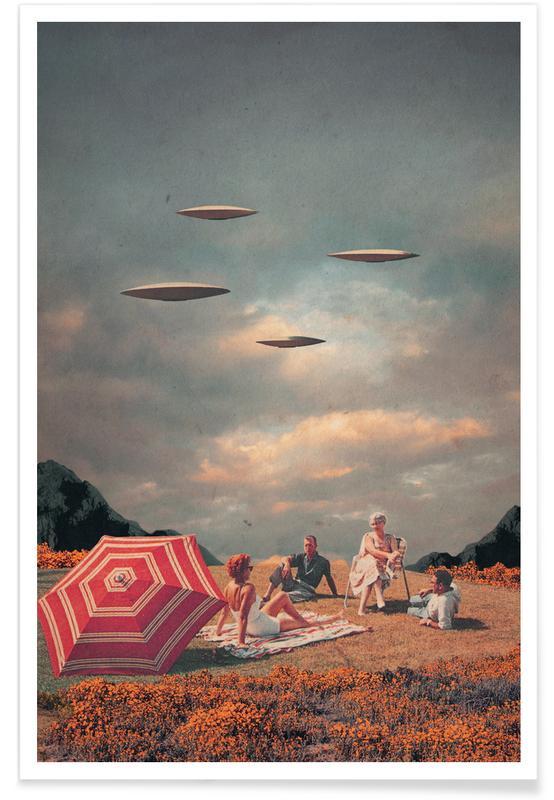 Fusées et vaisseaux spatiaux, Paysages abstraits, Couples, Skylines, Saint-Valentin, Forêts, Pretend They Never Came affiche