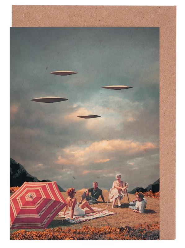 Raumschiffe & Raketen, Wälder, Skylines, Paare, Abstrakte Landschaften, Valentinstag, Pretend They Never Came -Grußkarten-Set
