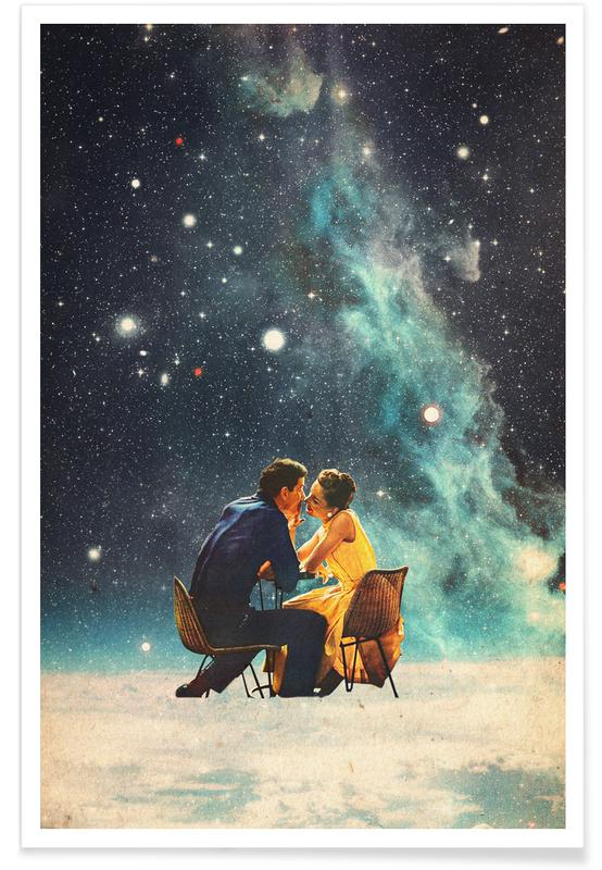 Fusées et vaisseaux spatiaux, Paysages abstraits, Couples, Skylines, Saint-Valentin, Forêts, I'd Like To Take You To The Stars For A Second Date affiche