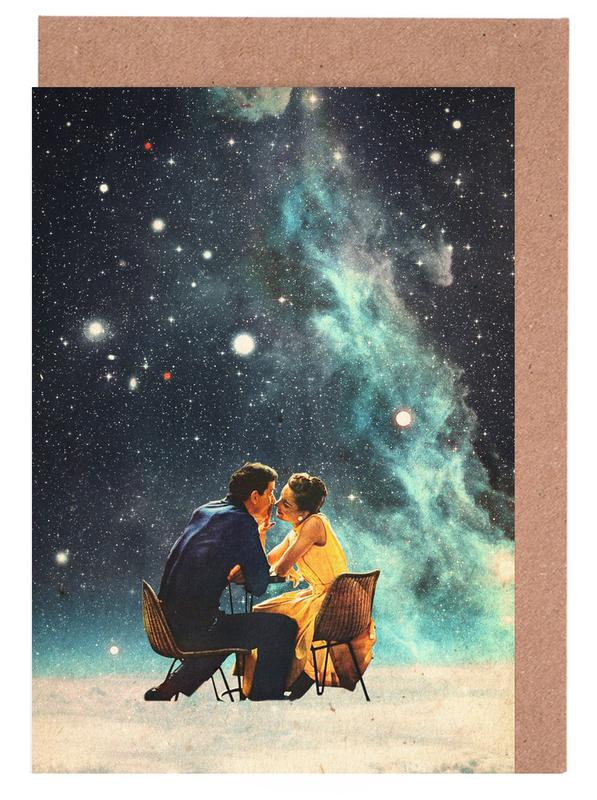 Couples, Forests, Abstract Landscapes, Skylines, Spaceships & Rockets, Valentine's Day, I'd Like To Take You To The Stars For A Second Date Greeting Card Set