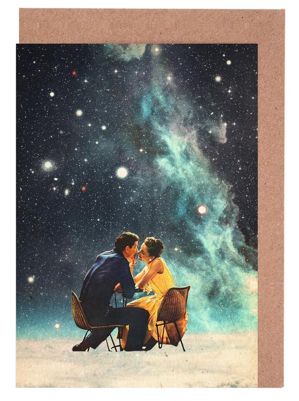 Fusées et vaisseaux spatiaux, Paysages abstraits, Forêts, Couples, Skylines, Saint-Valentin, I'd Like To Take You To The Stars For A Second Date cartes de vœux