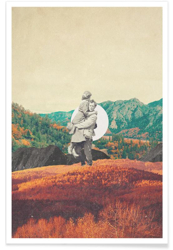 Wälder, Raumschiffe & Raketen, Skylines, Paare, Valentinstag, Abstrakte Landschaften, Promises Please Don't Look Back -Poster