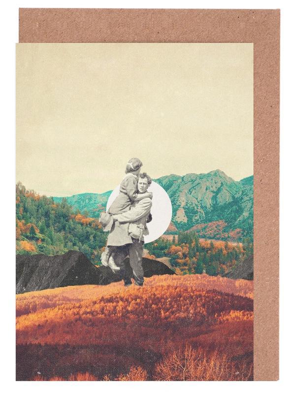 Raumschiffe & Raketen, Wälder, Skylines, Paare, Abstrakte Landschaften, Valentinstag, Promises Please Don't Look Back -Grußkarten-Set