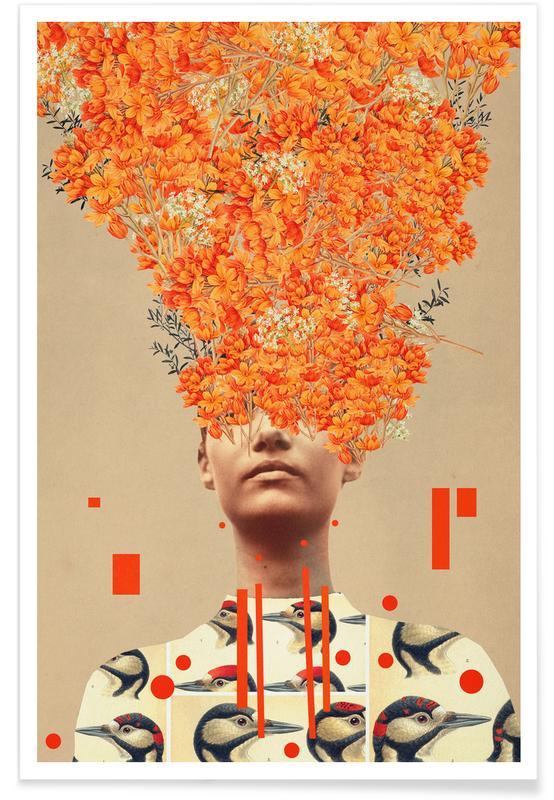 Fusées et vaisseaux spatiaux, Paysages abstraits, Couples, Skylines, Saint-Valentin, Forêts, Bird Flight In Autumn affiche