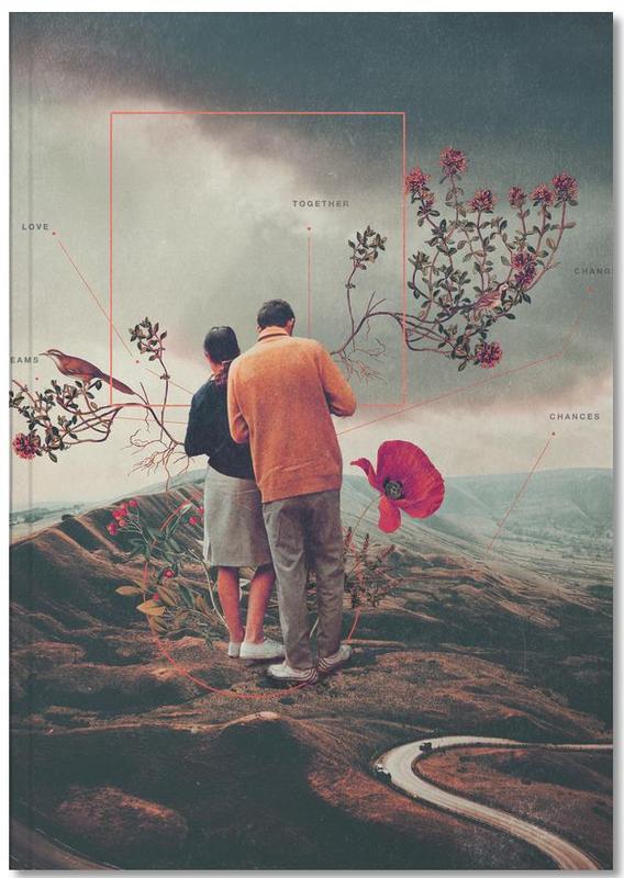 Skylines, Raumschiffe & Raketen, Valentinstag, Abstrakte Landschaften, Paare, Wälder, Chances & Changes Notebook