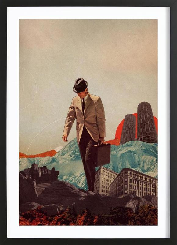 Leaving Their Cities Behind Framed Print