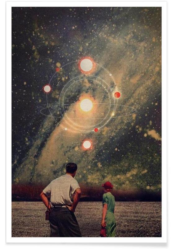 Retro, Light Explosions Poster