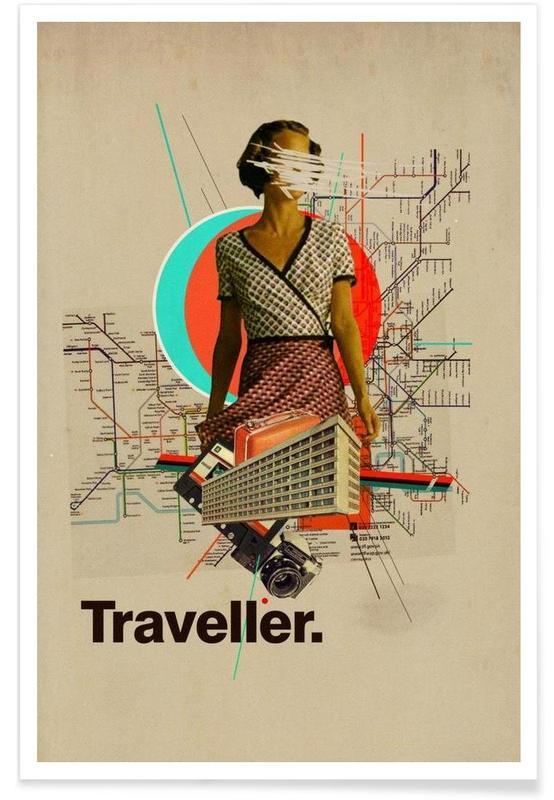 Retro, Reise, Traveller -Poster