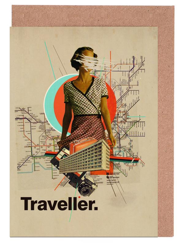 Traveller -Grußkarten-Set