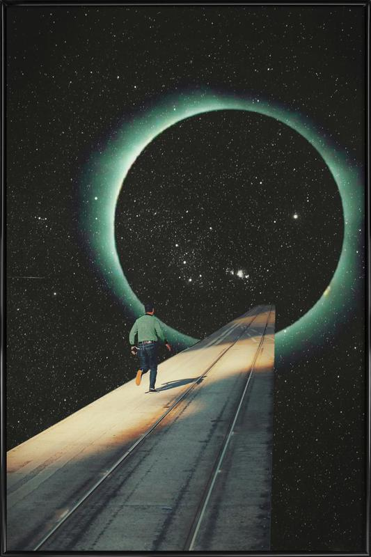 Escaping into the Void Framed Poster