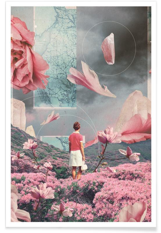 Wälder, Raumschiffe & Raketen, Skylines, Paare, Valentinstag, Abstrakte Landschaften, Trying To Accept The Distance -Poster