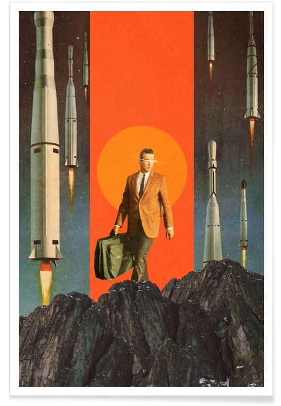 Fusées et vaisseaux spatiaux, Paysages abstraits, Couples, Skylines, Saint-Valentin, Forêts, The Departure affiche