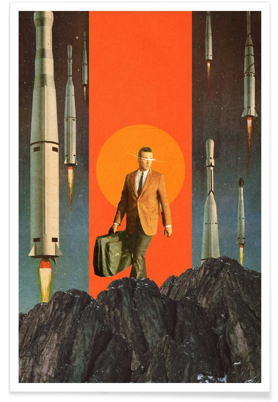 Couples, Skylines, Spaceships & Rockets, Forests, Abstract Landscapes, Valentine's Day, The Departure Poster