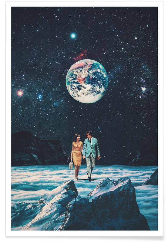 Fusées et vaisseaux spatiaux, Paysages abstraits, Couples, Skylines, Saint-Valentin, Forêts, I Promise You We Will Be Back Soon affiche