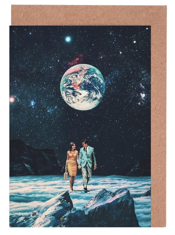 Raumschiffe & Raketen, Wälder, Skylines, Paare, Abstrakte Landschaften, Valentinstag, I Promise You We Will Be Back Soon -Grußkarten-Set