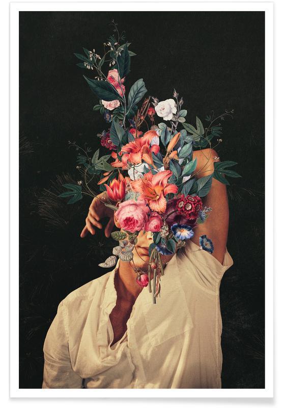 Fusées et vaisseaux spatiaux, Paysages abstraits, Couples, Skylines, Saint-Valentin, Forêts, Roses Bloomed Everytime I Thought Of You affiche