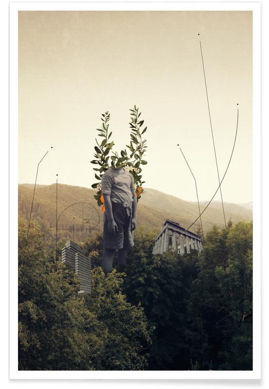 Fusées et vaisseaux spatiaux, Paysages abstraits, Couples, Skylines, Saint-Valentin, Forêts, Forest Angel affiche