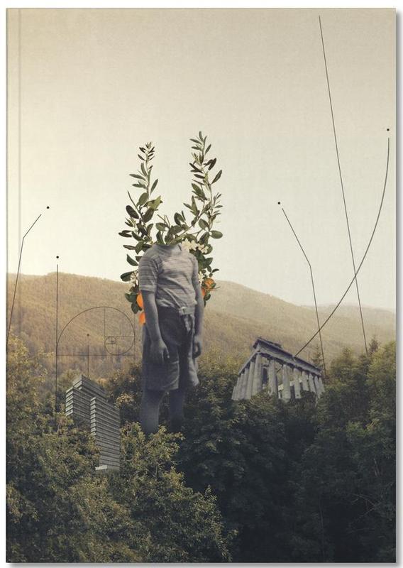 Skylines, Raumschiffe & Raketen, Valentinstag, Abstrakte Landschaften, Paare, Wälder, Forest Angel Notebook