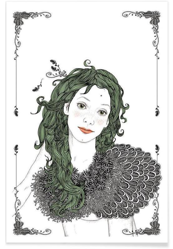 , green hair -Poster