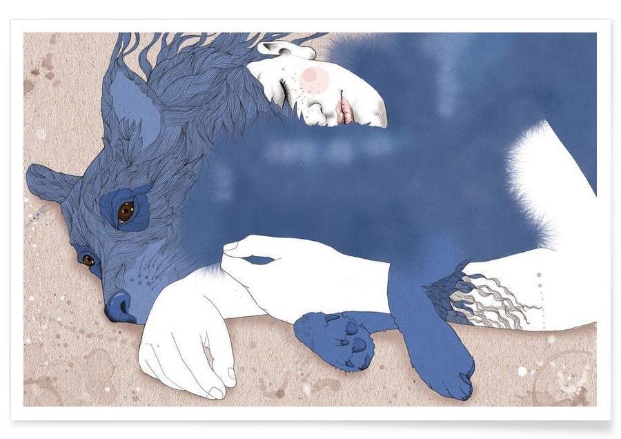 Wölfe, friend -Poster