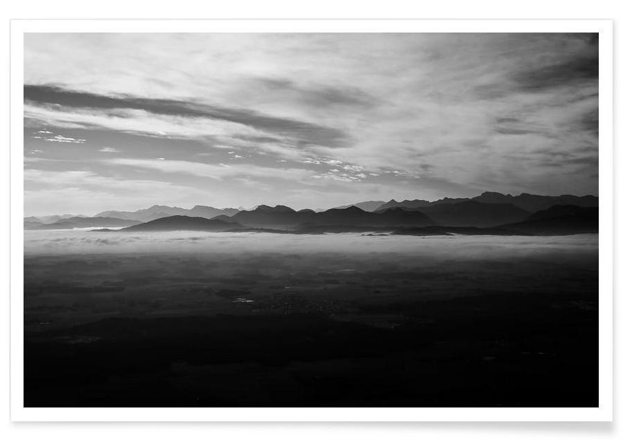 Montagnes, Nebelstreif affiche