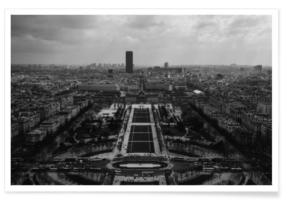 Noir & blanc, Paris, Champ De Mars affiche