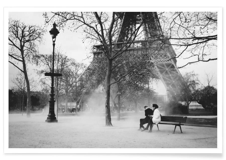 Noir & blanc, Couples, Paris affiche