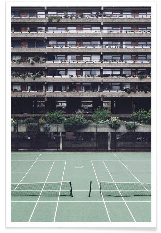 Détails architecturaux, Tennis, Backyards affiche