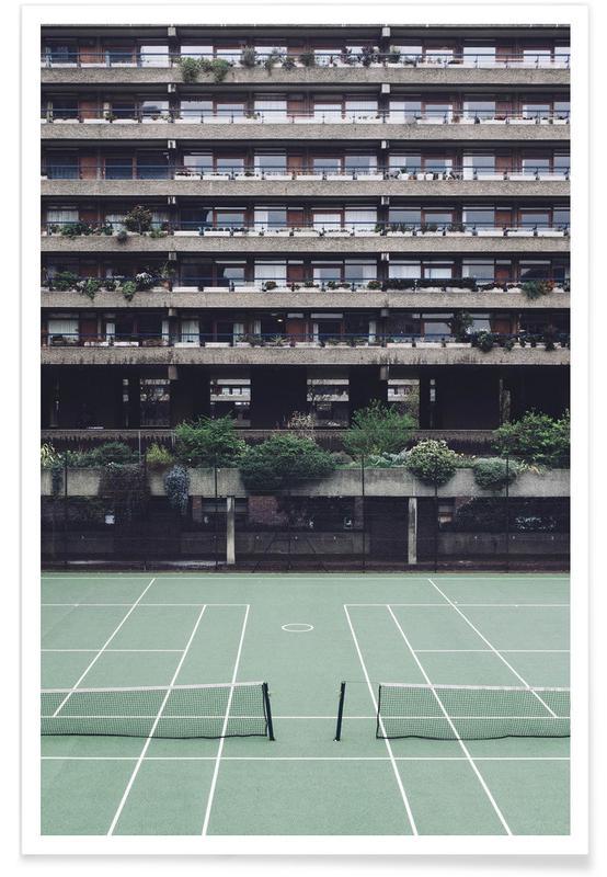 Arkitektoniske detaljer, Tennis, Backyards Plakat