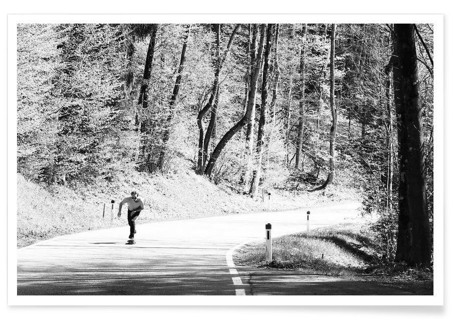 Wälder, Downhill -Poster