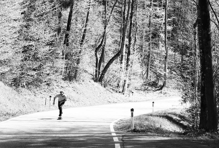 Downhill -Acrylglasbild
