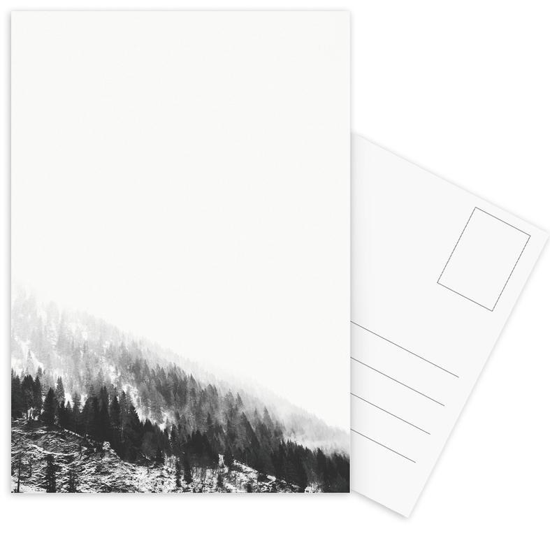 Zwart en wit, Bergen, Winter Tag 6 ansichtkaartenset
