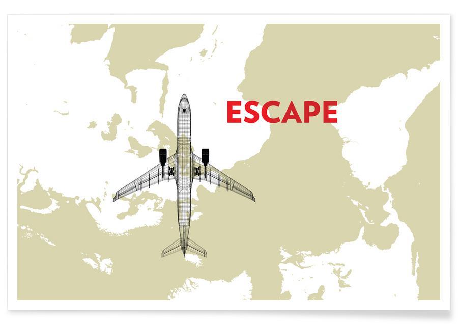 Escape Air Travel Map affiche
