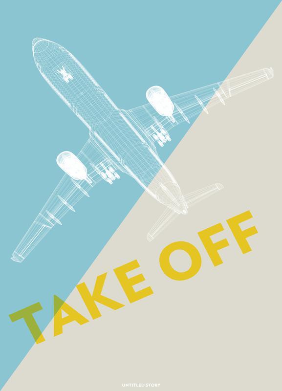 Take Off A340 -Leinwandbild
