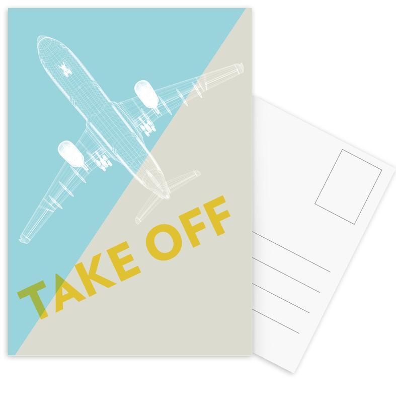 Vliegtuigen, Take Off A340 ansichtkaartenset