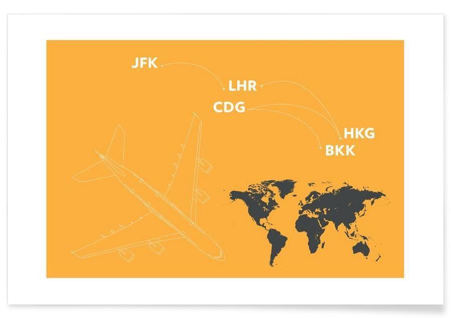 Avions, Voyages, Landing affiche