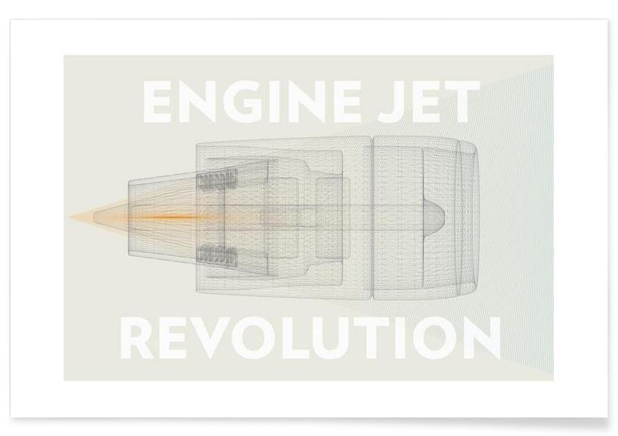 Engine jet revolution affiche
