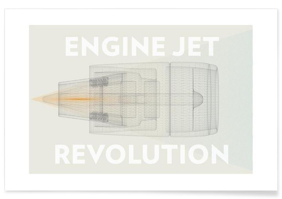 Engine jet revolution Poster