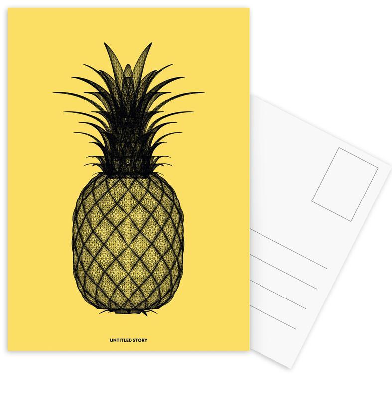 Pineapples, Ananas 1 Postcard Set