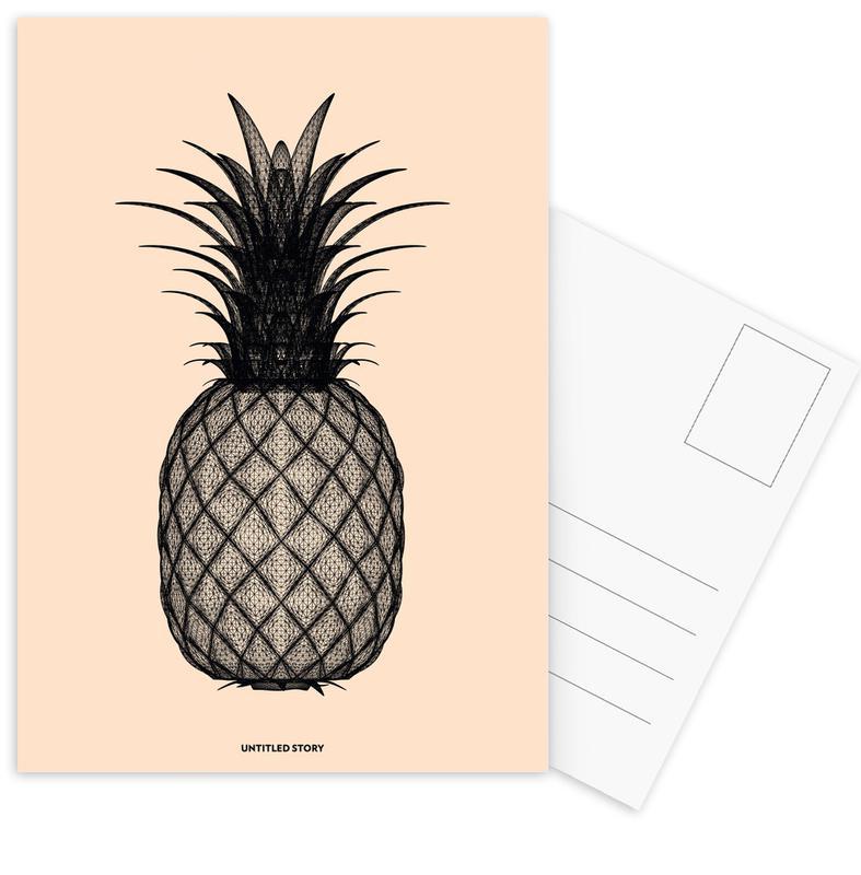 Pineapples, Ananas 2 Postcard Set